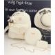 European Style Backpack With Handbag-Cream