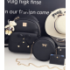 European Style Backpack With Handbag-Black