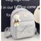 European Style Backpack With Handbag-Grey