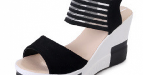 Wedge Sandals Comfortable Wedge High Comfortable Black Sandals Comfortable High Black Black sQdCthxr