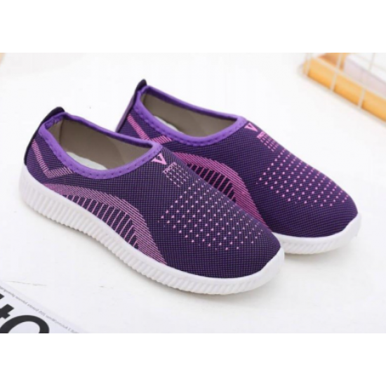 Woman comfortable flat Soft bottom breathable shoes-Blue