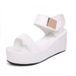 Women Fish Mouth High Heeled Wedge Sandals