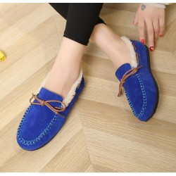 Winter New Blue Warm Shoes for Women