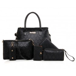 Stylish Metal and Embossing Design Bag For Women