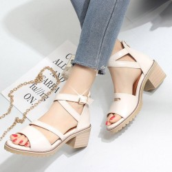 Open Toe Buckle Closing Fashion Sandals