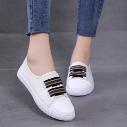 Sneaker Canvas Flat White Shoes