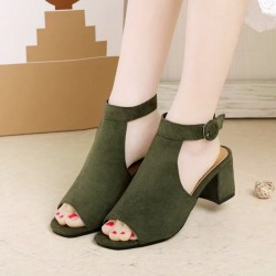 Slope Casual Ladies Green Sandals