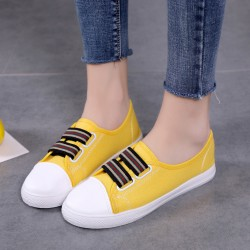 Sneaker Canvas Flat Yellow Shoes