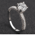 New Round Micro Diamonds Women Silver Rings