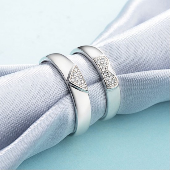 Latest Fashion Adjustable Couple Silver Ring