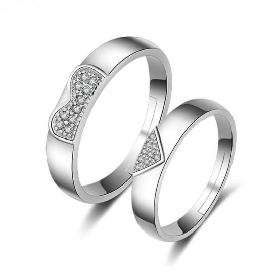Latest Fashion Adjustable Couple Silver Ring image