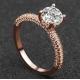 New Round Micro Diamonds Women Gold Rings