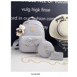 European Style Backpack With Handbag