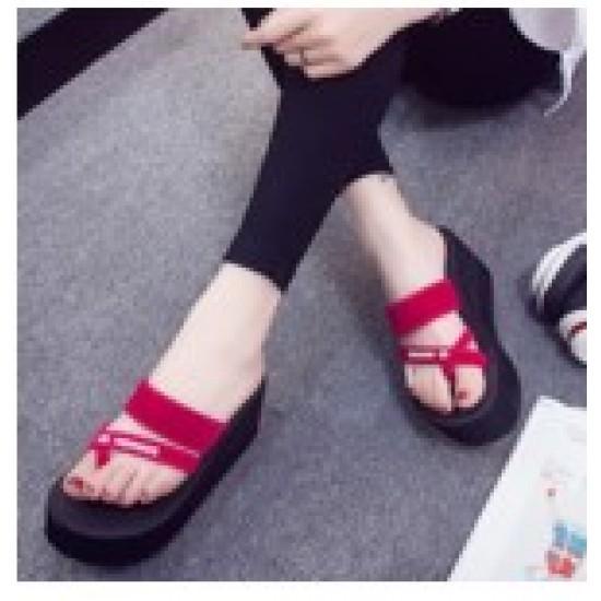 High Bottom Lightweight comfortable slippers-Red