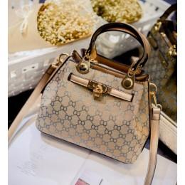 New European Fashion Kelly Bag-Golden