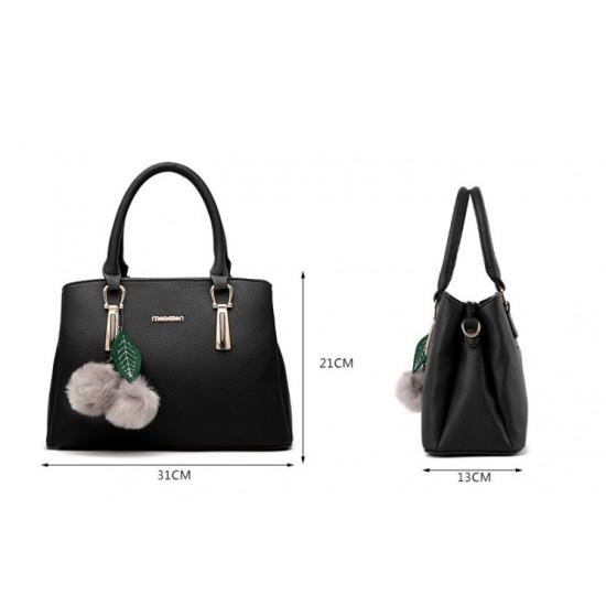 New Lychee Pattren Fashion Simple Shoulder Bag-Blue