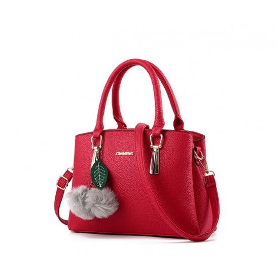 New Lychee Pattren Fashion Simple Shoulder Bag-Red