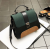 PU Leather Messenger Shoulder Bag-Green