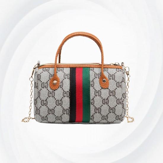Latest Fashion Women Wild Chain Messenger Shoulder Bag-Brown