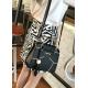 Korean version pu tassel small square bag kitten handbag-Black