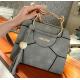 Korean Version Pu Tassel Small Square Bag Kitten Handbag-Grey
