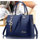 Pure Blue Color Women Exclusive Design Messenger Handbag