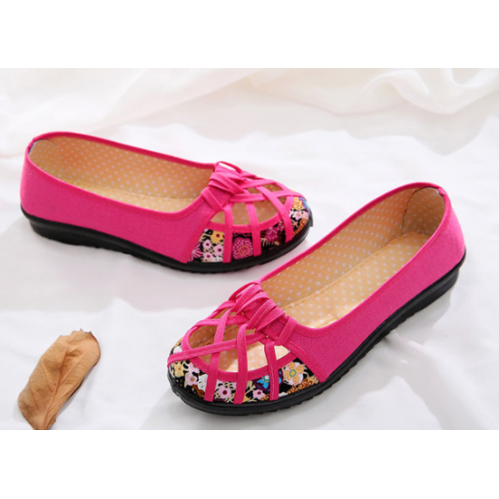 Woman New style soft bottom hole breathable Shoes - Pink