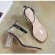 New Transparent Thick Heel women Sandal - Black