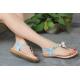 New style Flip Flops Flat Bottom Sandal-Blue