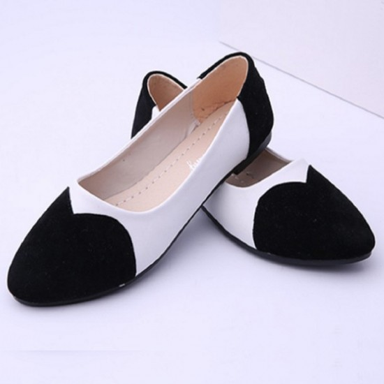 Black Color Tide Shallow Mouth Round Flat Shoes image