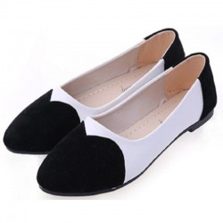 Black Color Tide Shallow Mouth Round Flat Shoes