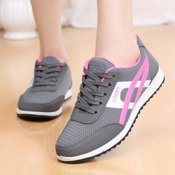 Women Fashion Grey Breathable Sports Shoes