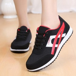 Women Fashion Black Breathable Sports Shoes