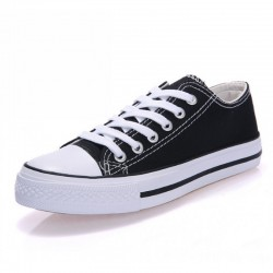 Women Black Color Comfty Canvas Shoes For Women