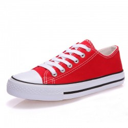 Women Red Color Comfty Canvas Shoes For Women